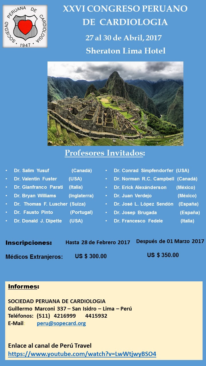 afichecongresoperuano2017
